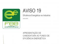 ABERTURA DAS CANDIDATURAS AO FUNDO DE EFICI�NCIA ENERG�TICA PARA A INDUSTRIA
